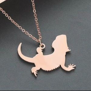 Jewelry - Bearded dragon necklace, stainless steel necklace